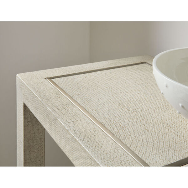 Cascade Lacquered Burlap Console Table, image 3