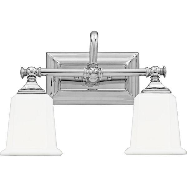 Nicholas Polished Chrome Two-Light Bath Light, image 1