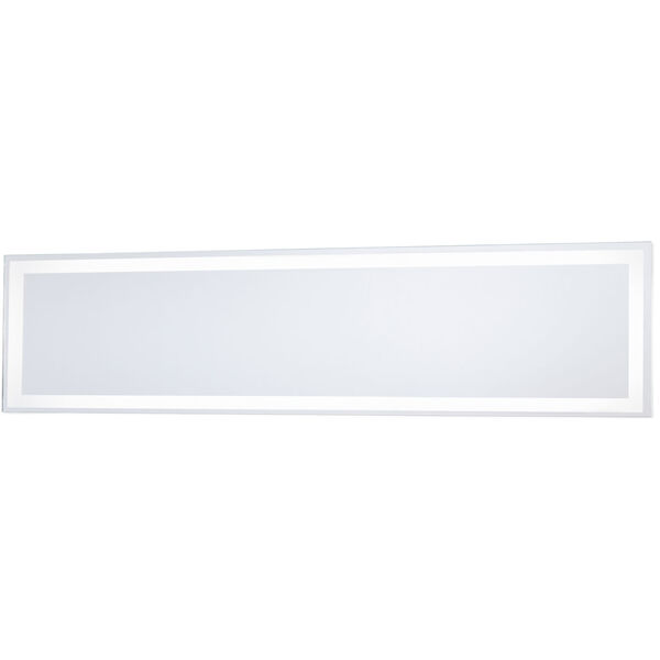 White 30-Inch Rectangle Mirror with LED, image 1