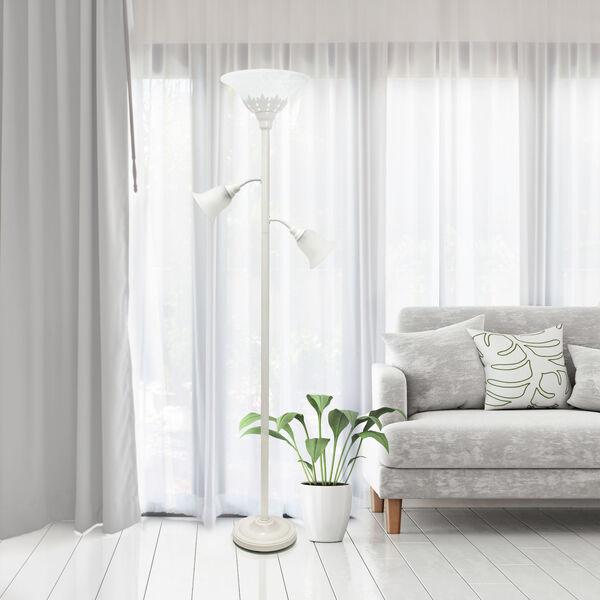 Quince White Three-Light Floor Lamp, image 4