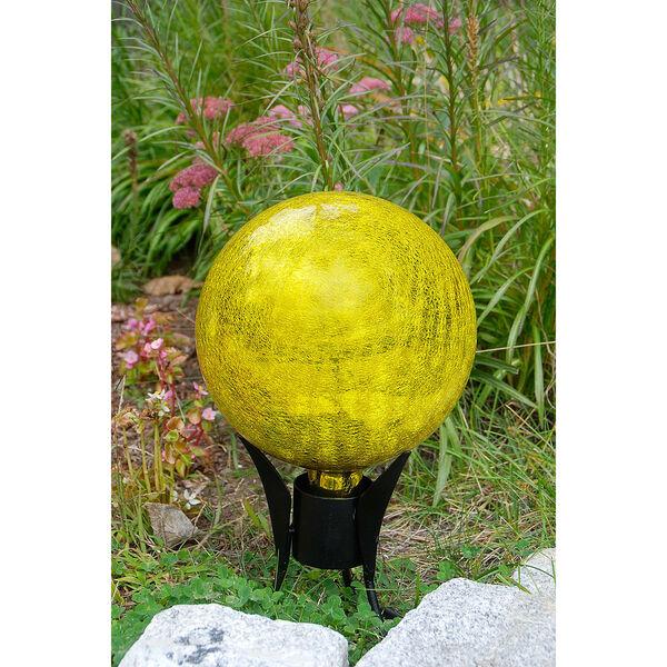 Gazing Globe 10 Inch Lemon Drop Crackle, image 3