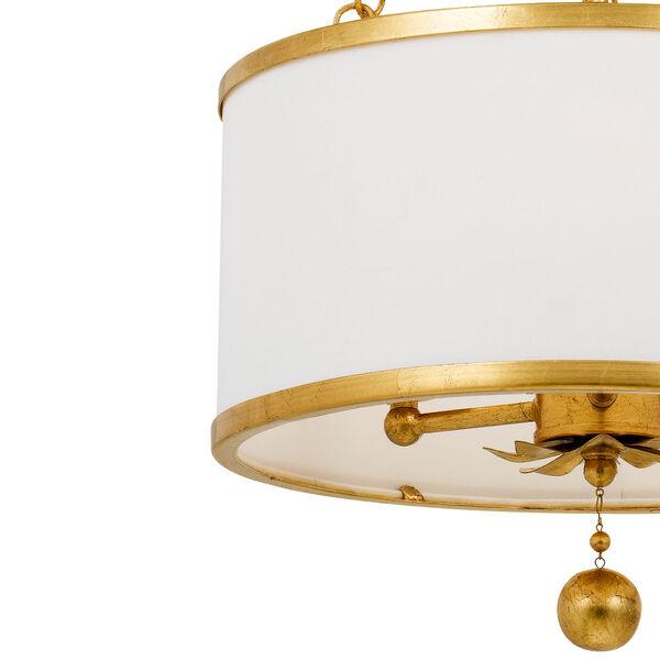 Broche Antique Gold Three-Light Chandelier, image 7