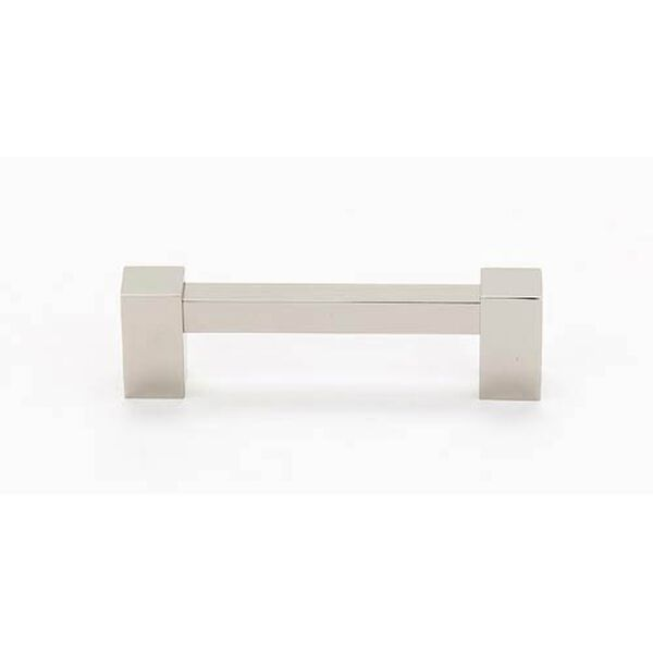 Contemporary II Polished Nickel 6-Inch Square Pull, image 1