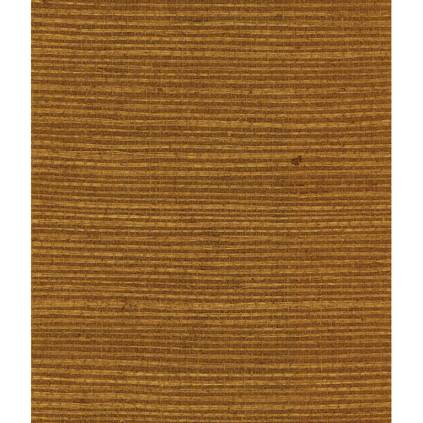 Lillian August Luxe Retreat Bronze and Gold Shimmer Sisal Grasscloth Unpasted Wallpaper, image 1