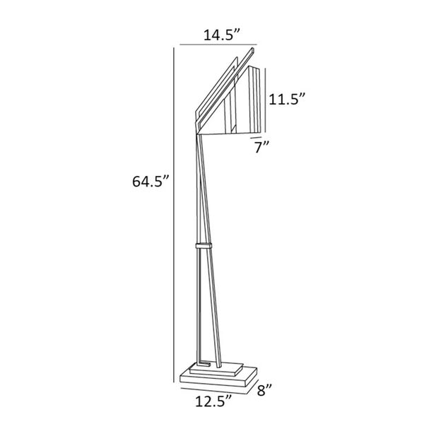 Verda Black One-Light Floor Lamp, image 4