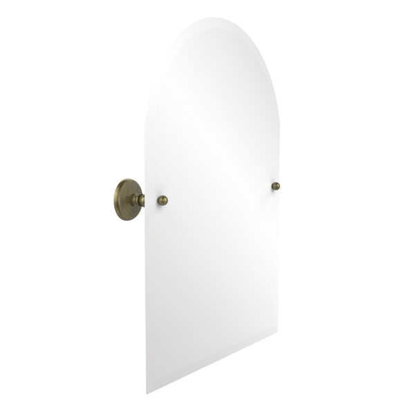 Frameless Arched Top Tilt Mirror with Beveled Edge, image 1