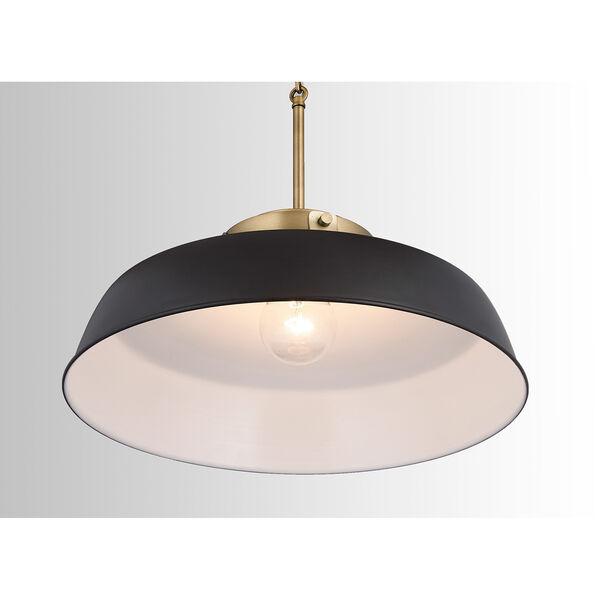 Oakwood Matte Black One-Light Pendant, image 4