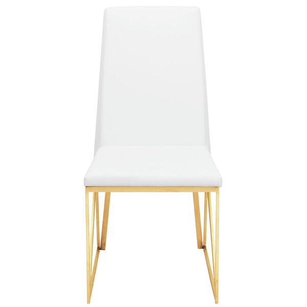 Caprice White and Gold Dining Chair, image 6