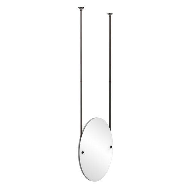 Oil Rubbed Bronze Oval Ceiling Hung Mirror, image 1