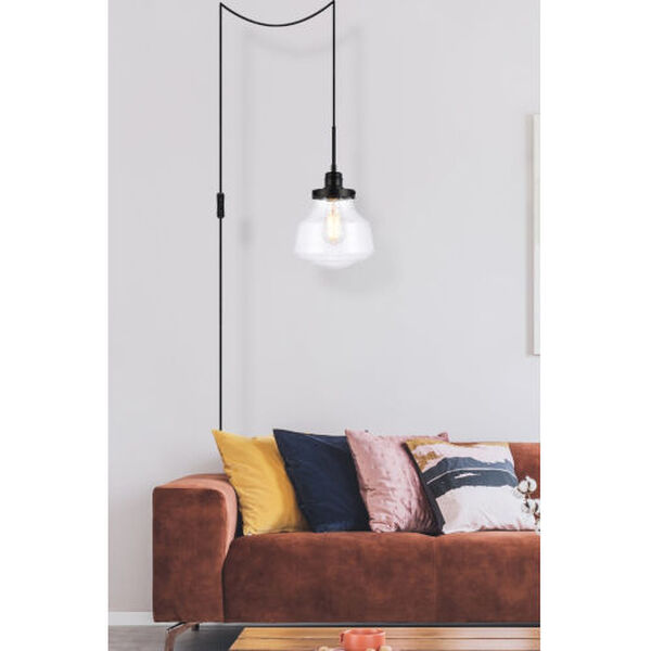Lyle Black One-Light Plug-In Pendant, image 6