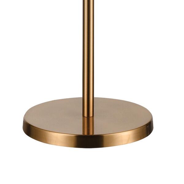 Aged Brass Six-Light Floor Lamp, image 4