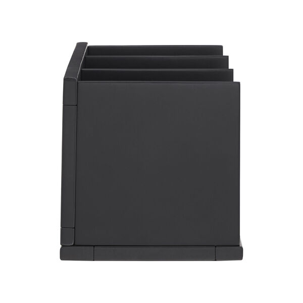 Tanya Black X-Frame Three-Shelve Bookcase, image 6