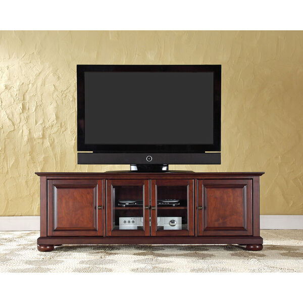 Alexandria 60-Inch Low Profile TV Stand in Vintage Mahogany Finish, image 3