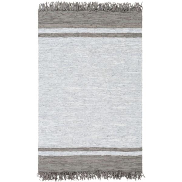 Lexington Dark Brown and Light Gray Rectangular Rug, image 1