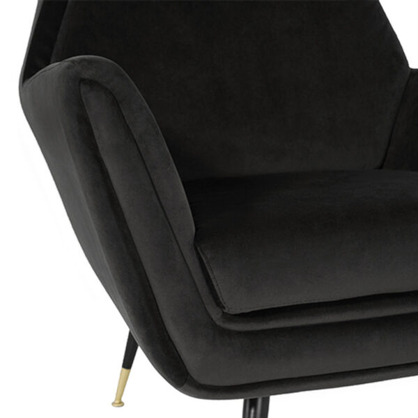 Vanessa Shadow Gray and Black Occasional Chair, image 4