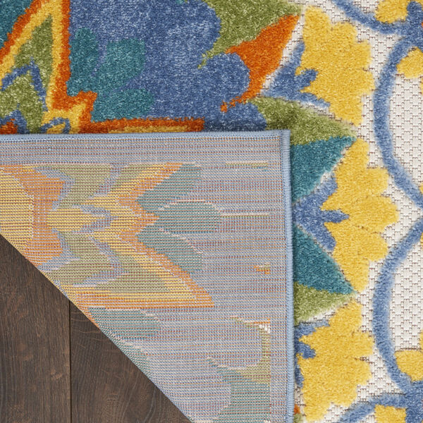 Aloha Blue and Yellow Indoor/Outdoor Area Rug, image 3