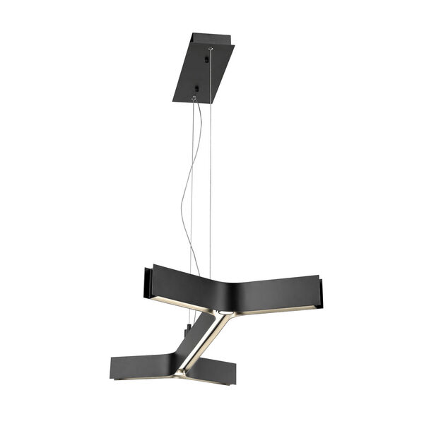 Arcano Matte Black Five-Light LED Pendant, image 4