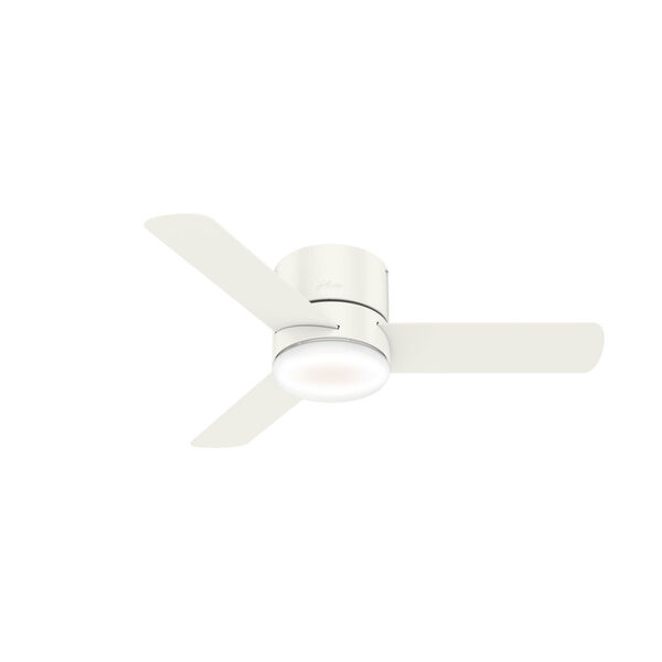 Minimus Low Profile Fresh White 44-Inch LED Ceiling Fan, image 1