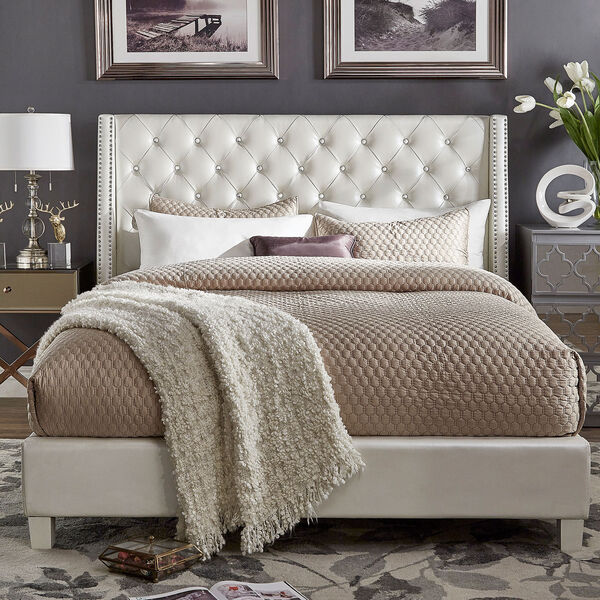 Sotello Crystal Tufted Full Bed, image 1