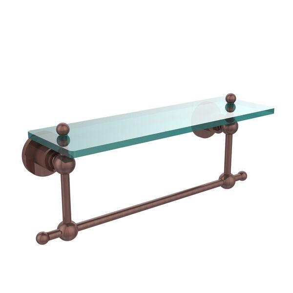 Antique Copper Single Shelf with Towel Bar, image 1