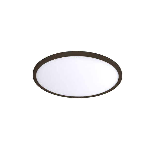 Bronze 11-Inch 3000K LED ADA Round Flush Mount, image 1