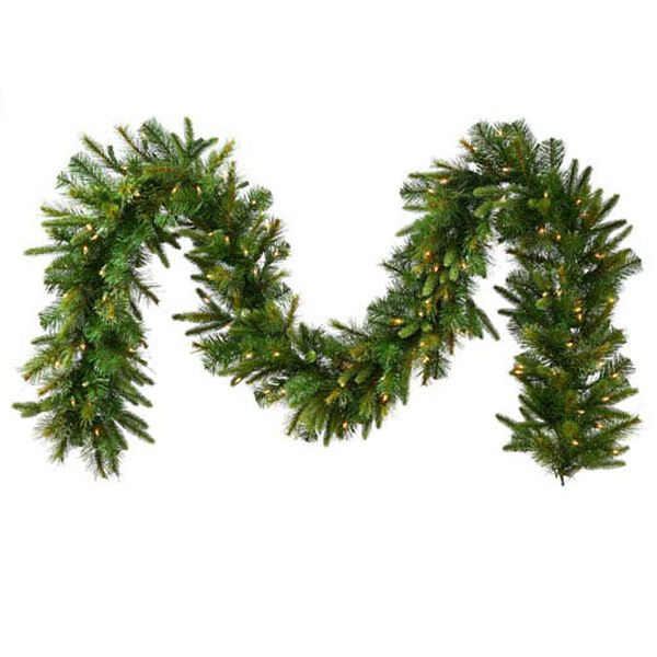 Cashmere Pine 18-Inch Garland w/300 Warm White Italian LED Lights and 260 Tips, image 1