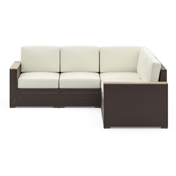 Palm Springs Brown Patio Five-Seat Sectional, image 4