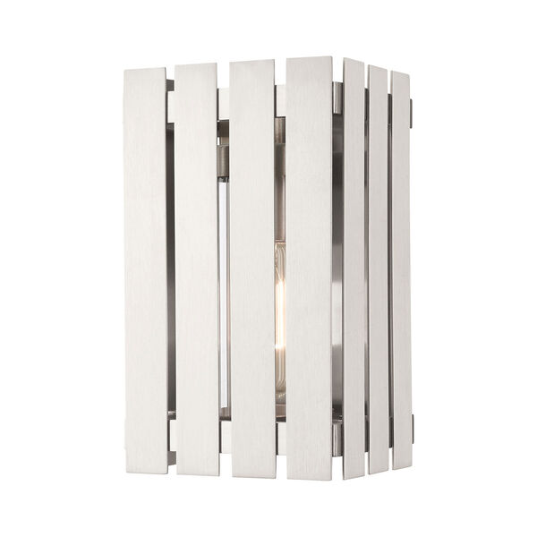 Greenwich Brushed Nickel 10-Inch One-Light Outdoor Wall Lantern, image 1