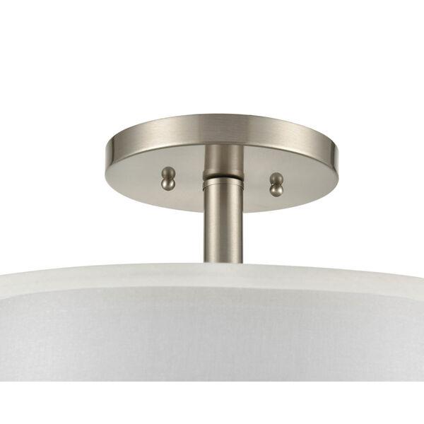 Madison Brushed Nickel 15-Inch Three-Light Semi Flushmount, image 4