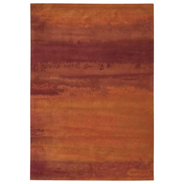 Luster Wash Russet Tones Rust Rectangular: 4 Ft. x 6 Ft. Rug, image 1