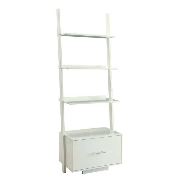 American Heritage White Ladder Bookshelf, image 1