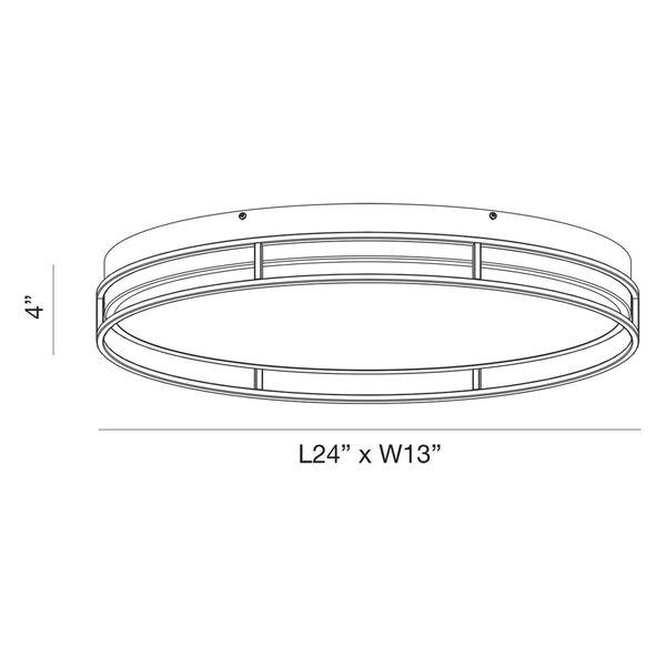 Grafice Chrome 14-Inch Integrated LED Flush Mount, image 4