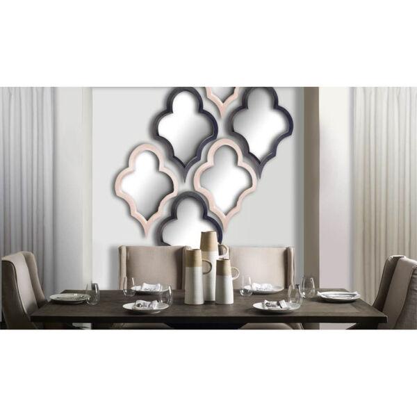 Geneva White Wood Frame Wall Mirror, image 2