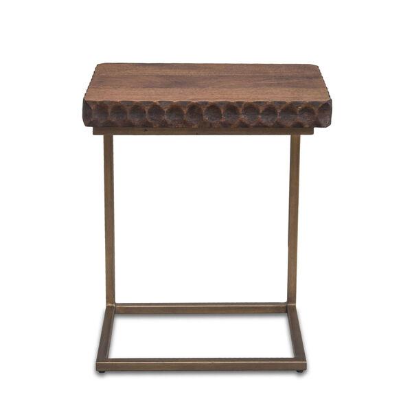 Vallarta Two Tone and Bronze Mango Wood Side Table, image 1