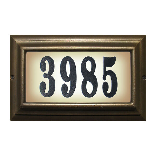 Edgewood Oil Rub Bronze Large Do It Yourself Kit Lighted Address Plaque, image 1