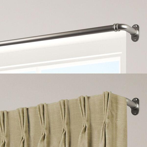 Blackout Satin Nickel 84-120 Inch Curtain Rod, image 2