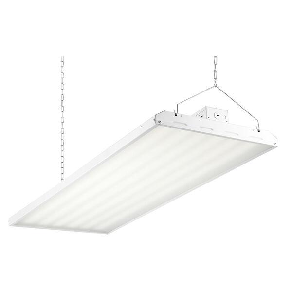 White 48-Inch 320W LED High Bay Hanging Light, image 1