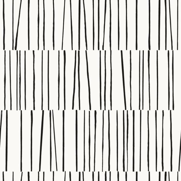 Bobby Berk White and Black Shift Peel and Stick Wallpaper, image 2