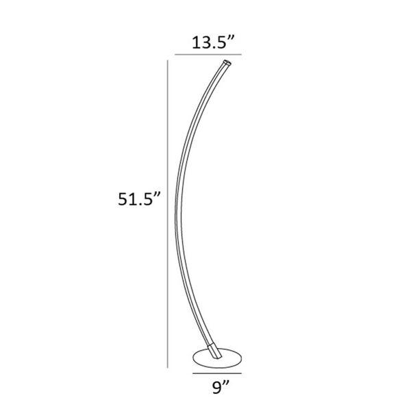Monita Black 52-Inch LED Floor Lamp, image 5
