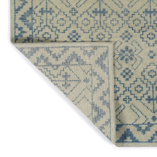 Knotted Earth Blue and Ivory 4 Ft. x 6 Ft. Area Rug, image 4
