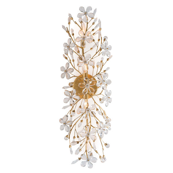 Cheshire Gold Leaf Four-Light Wall Sconce, image 2