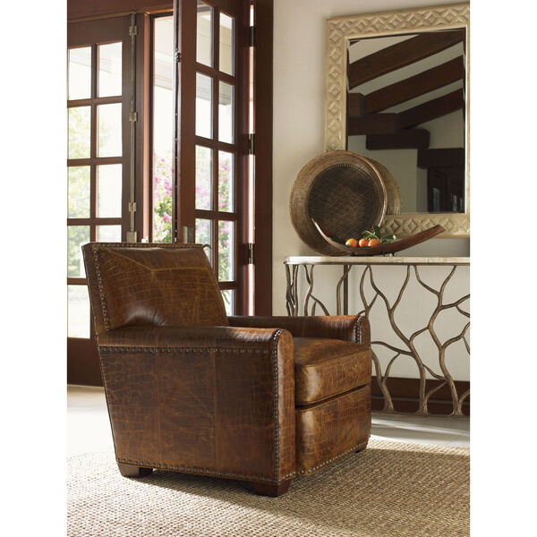 Tommy Bahama Upholstery Brown Stirling Park Leather Chair, image 2