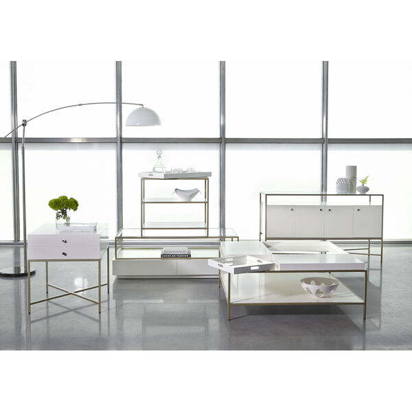 Delaney White End Table with Removable Tray, image 4