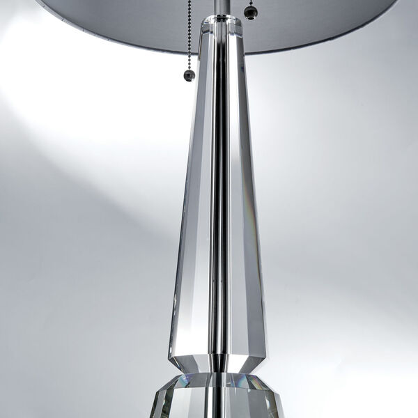 Eloise Crystal White Two-Light Table Lamp, image 2