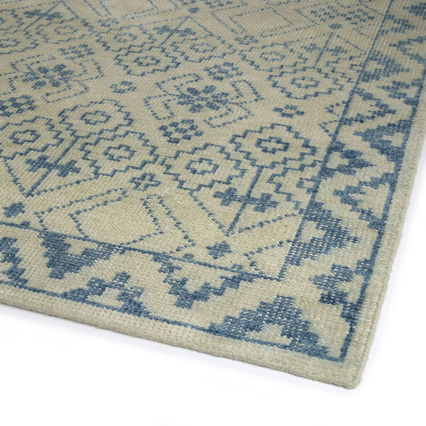 Knotted Earth Blue and Ivory 4 Ft. x 6 Ft. Area Rug, image 2