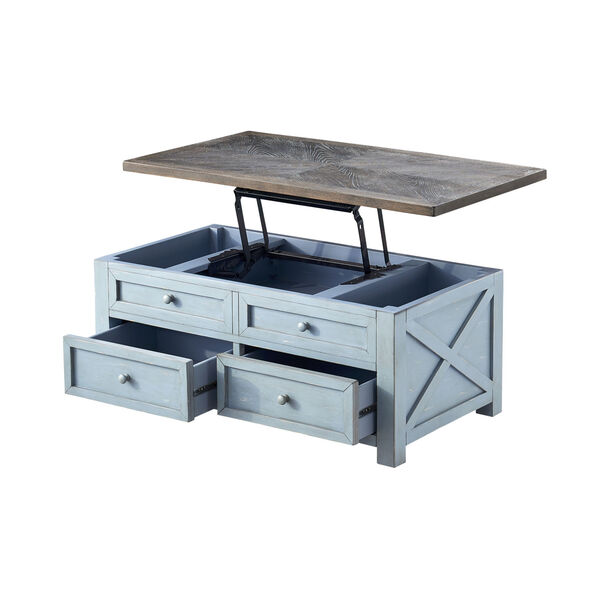 Bar Harbor Blue 46-Inch Cocktail Table, image 3