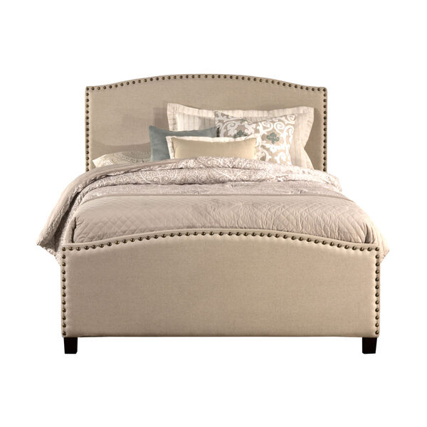Kerstein Light Taupe Full Complete Bed With Rails, image 2