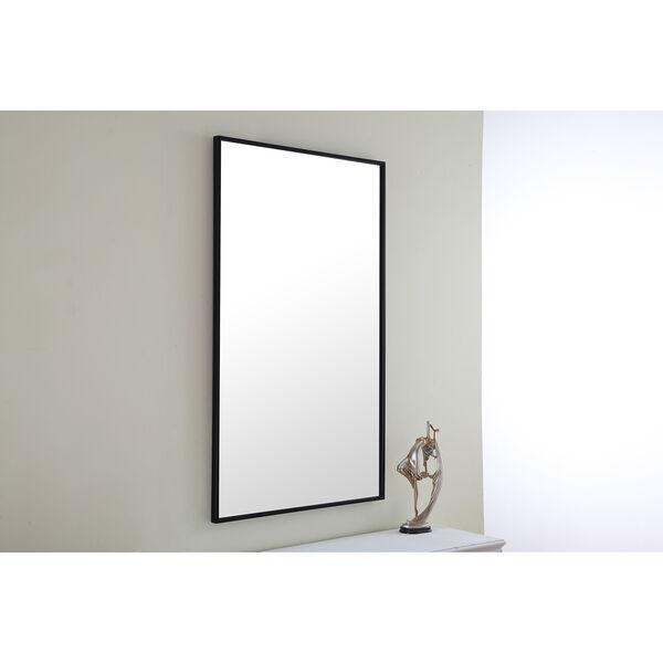 Eternity Black 24-Inch Mirror, image 1
