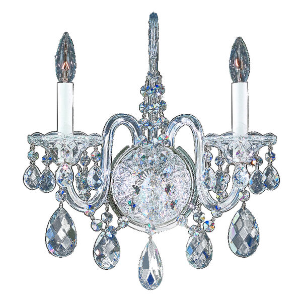 Sterling Polished Silver Two-Light Wall Sconce, image 1