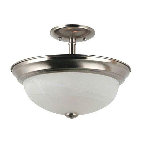 Windgate Brushed Nickel Two-Light Semi-Flush Convertible Pendant, image 3